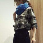 ユニクロ40代コーデ2017の秋冬ファッション!フランネルシャツ・ユニクロユー